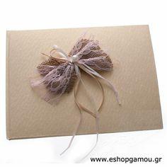 Βιβλία Ευχών Γάμου Δαντέλα Λινάτσα Εκρού Κωδ.687119-999 - Eshopgamou.gr
