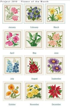 Flower of the month charts