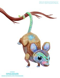 Daily Paint Sugar Cube Gliders by Cryptid-Creations on DeviantArt Cute Fantasy Creatures, Cute Creatures, Magical Creatures, Cute Animal Drawings Kawaii, Kawaii Drawings, Cute Drawings, Animal Puns, Animal Food, Cute Chibi