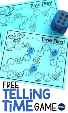 FREE telling time game for kids--Download this FREE telling time game when you visit this post. See lots of hands-on ideas and telling time activities for first, second, and even third graders that make what can be a difficult concept fun! Ideal for math centers and guided math groups when teaching 1st, 2nd, and 3rd graders to tell time to the hour/half hour, quarter hour, and to the minute. #teachingkidsmath #learnmath