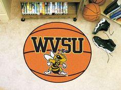 "West Virginia State University Basketball Mat 27"""" diameter"