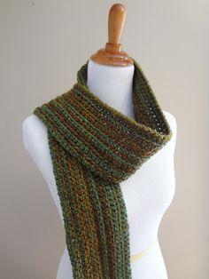 Fiber Flux: Free Crochet Pattern...Wise Oak Ribbed Scarf