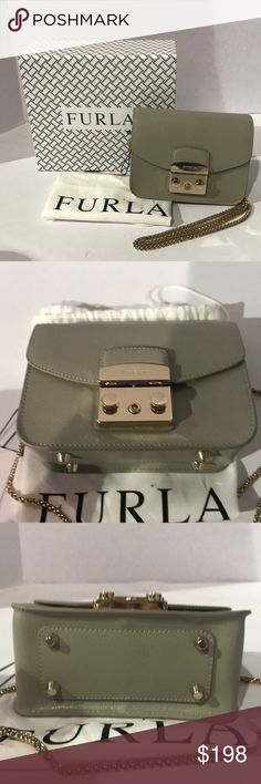 Furla Grey Crossbody Handbag Please use photos as reference to condition and what is included.  Strap:22.8 in Depth:3 in Width:3 in Height:4.7 in Furla Bags Shoulder Bags