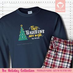 Get our Long Sleeve Two Traditions Pajamas and don't buy two sets of Christmas Pajamas or Hanukkah Pajamas. #matchingchristmaspajamas #christmaspajamas #familychristmaspajamas #polarexpresspajamas #christmas #holidaypajamas #christmasgift #christmasphotoideas #pajamas #personalizedpajamas #christmas2020 #christmas #pressed4fun #p4f #fununiquecute #holidaypartyoutfit #holidaygift #holidaypartyideas #holidayparty Matching Christmas Pajamas, Family Christmas Pajamas, Holiday Pajamas, Christmas Shirts, Christmas Hanukkah, Easter Pajamas, Personalized Pajamas, Black Jogger Pants, Holiday Party Outfit