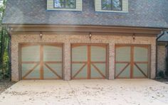 Clear Western Red Cedar Garage Door With Liftmaster Opener