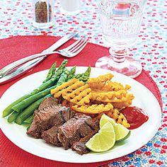 Citrus-Marinated Skirt Steak | http://www.myrecipes.com/recipe/citrus-marinated-skirt-steak-10000001985855/  Made it - love it