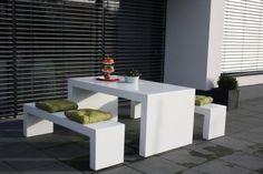 Sitzgruppe Moderna 160 aus Fiberglas