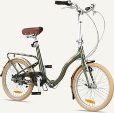 "$399 Citizen Bike folding bike shop | Portable & Folding Bikes | BARCELONA Citizen Bike 20"" 3-speed Folding Cruiser with Alloy Frame with Basket"