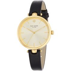 Kate Spade Holland Skinny Strap Watch ($175) ❤ liked on Polyvore featuring jewelry, watches, kate spade, polish jewelry, kate spade watches and kate spade jewelry
