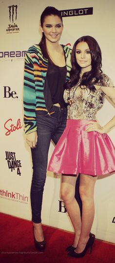 Kendall jenner & Cher Lloyd I'm genuinely shocked by the height difference