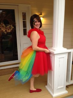 DIY 64-layer parrot tutu costume with bustle More