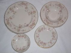 Stansbury Federal Shape Syracuse China Lot 13 pcs excellent 1949-70 pink floral