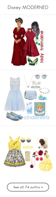 """""""Disney MODERNED"""" by cherrysama101 ❤ liked on Polyvore featuring Tagliamonte, Effy Jewelry, Nine West, Dorothy Perkins, Repetto, rag & bone, Allurez, Christian Dior, Skinnydip and Eos"""
