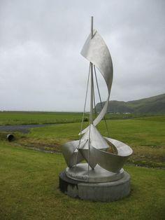 Metal sculpture - Skogar, Iceland