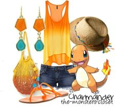pokemon fashion | Charmander inspired outfit :)