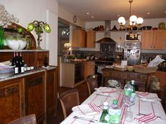 Genuine French Farmhouse Dining Room and Kitchen