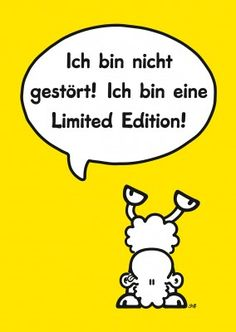 original sheepworld postkarte gelb ohne dich ist alles doof
