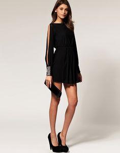 Image result for slit sleeve dress