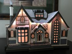 """A Thing for Paper: Winter Lodge #svgfiles #papercrafts """"The 3D buildings can seem intimidating to build because they appear so detailed and look very involved. I'm happy to say that if you follow the instructions and watch the assembly video, it's really not that difficult and you end up with something that's so totally WOW!  I think it's all just a matter of taking it one step at a time and pacing yourself. No pressure - it's just paper!"""""""
