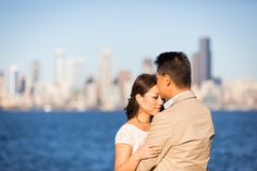 Seattle engagement session at Alki Beach - by Seattle based wedding photographer Nick Leung