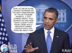 Pres. Obama on the Gettysburg Address ~  The Patriot Post
