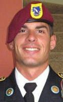 Army Pfc. Michael J. Metcalf, 22, of Boynton Beach, Florida. Died April 22, 2012, Serving During Operation Enduring Freedom . Assigned to the 2nd Battalion, 504th Infantry, 1st Brigade Combat Team, 82nd Airborne Division, Fort Bragg, N.C.; died in Paktica, Afghanistan, of wounds suffered when enemy forces attacked his unit with an improvised explosive device.
