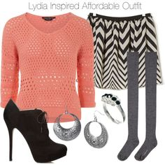 """Lydia Inspired Affordable Outfit"" by veterization on Polyvore"