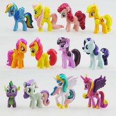 Set Of My Toy Collection Little Pony Cute Patroled PVC Unicorn Poni Toys For Children Birthday Holiday Christmas Doll Safe Non-Toxic Material Model Furnishing Articles Cake Toppers by ESTGO My Little Pony Party, Christmas Gifts For Girls, Gifts For Kids, Toys For Girls, Kids Toys, Anniversaire My Little Pony, Vinyl Dolls, Little Doll, Pvc