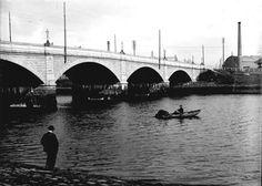 The new victoria bridge opened on 2 july Aberdeen Harbour, Aberdeen Scotland, Silver City, Salmon Fishing, Suspension Bridge, North Sea, Around The Worlds, History, Columns
