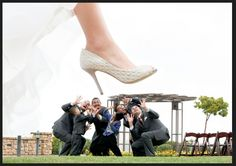 Funny groomsmen photo, #funnygroomsmenphoto, #funnyweddingphotos, Bride stepping on groomsmen photo,