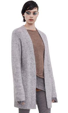 Acne Studios Raya Short Mohair husky grey is a fluffy compact mohair cardigan sweater. Acne Studios, Sweater Cardigan, Husky, Grey, Sweaters, How To Wear, Fashion, Sweater, Gray