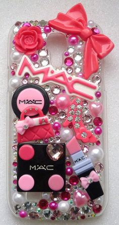 inspired makeup case fits Samsung galaxy s3 mini case Samsung galaxy s4 mini case lipstick pink handbag pink shoe love heart  Lolita bow on Etsy, $40.97 AUD