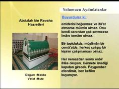 Abdullah bin Revaha Hazretleri | Yolumuzu Aydınlatanlar | www.ehlisunnet...