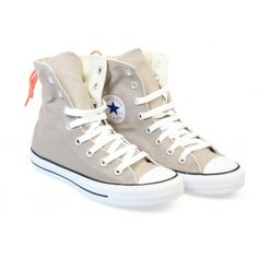 Buy multi-coloured (taupe/grey) converse all star chuck taylor slouchy hi womens taupe canvas high top trainers . Converse womens trainers at TOWER London - mens, womens and kids branded footwear. Rainbow Converse, Cool Converse, Grey Converse, Outfits With Converse, Converse Sneakers, Sneakers Fashion, High Top Sneakers, Converse Chuck Taylor All Star, Converse All Star
