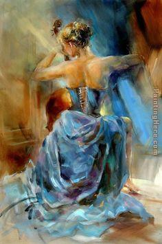 Anna Razumovskaya Blue Note 1 painting anysize 50% off - Blue Note 1 painting for sale