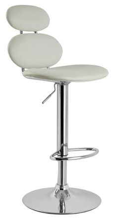 The Bolla Gas Lift Bar Stool in White.
