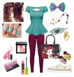 """Little Mermaid"" by stephanieperez5592 on Polyvore featuring Great Plains, Vans, Disney, Disney Couture, Maybelline, Bobbi Brown Cosmetics, women's clothing, women, female and woman"