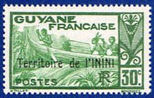 Inini 10 Stamp - Stamp of French Guinea Overprinted - SA IN 10-1 MNH