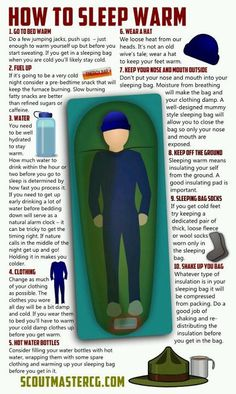 Tips for keeping warm when camping.