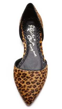 alice + olivia Hilary d'Orsay Flats. *had some j. crew leopard d'orsay flats like this and wore them until they had holes. need to replace*