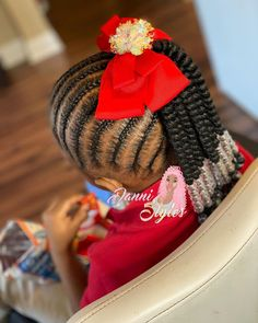 Hairstyles: Gorgeous Christmas Braiding styles for Kids – Schwarze Frisuren Mixed Kids Hairstyles, Braided Hairstyles For School, Baby Girl Hairstyles, Diy Hairstyles, Gorgeous Hairstyles, Kids Box Braids, Braids For Boys, Braids For Black Hair, Christmas Hairstyles