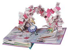 Alice au pays des merveilles, d'après Lewis Carroll, Robert Sabuda, Seuil jeunesse, 2004.