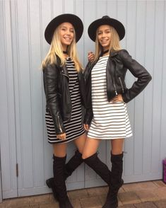 Lisa and Lena ♡ Fall outfits Twin Outfits, Outfits For Teens, Fall Outfits, Cute Outfits, Fashion Outfits, Womens Fashion, Braces Girls, Looks Style, My Style