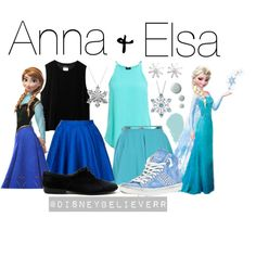 Anna and Elsa. Manny would be Anna and I would be Elsa! I love this <3