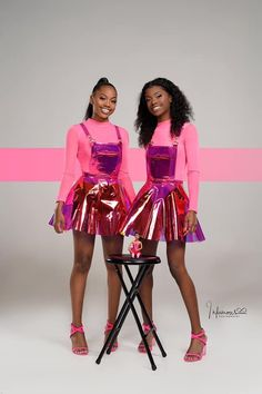 Swag Outfits For Girls, Girl Outfits, Cute Outfits, Fashion Outfits, 16th Birthday Outfit, Birthday Fashion, Matching Outfits Best Friend, Best Friend Outfits, Glam Photoshoot