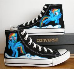 Adult Hand Painted Converse Shoes My Little Pony by BeressyArt, £80.00 ermahgerd!