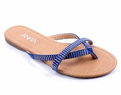 Fashion Rhinestones Double Straps Slip On Home Outside Women Flip Flops Sandals Casual Shoes New Without Box *** You can find more details by visiting the image link.