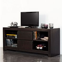 Mueble de TV con 3 cajones | Solid oak tv unit, Tv units and Solid oak