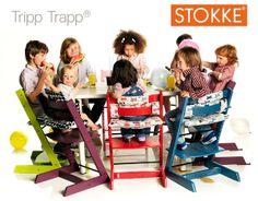 #Stokke #TrippTrapp: la sedia per bambini più venduta d'Europa, utilizzabile da 0 a 99 anni !
