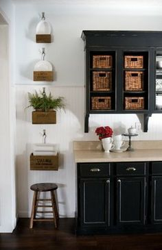 crates for the kitchen walls